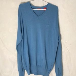 Men's Izod v-neck sweater size M BLUE